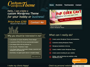 Custom WordPress Theme thumnail