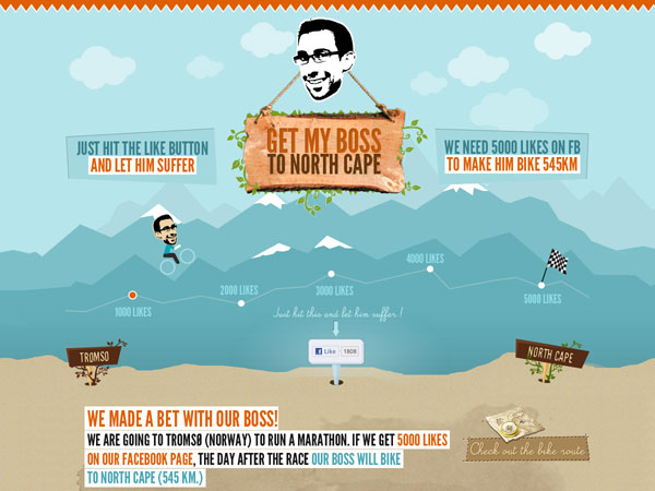 Get my boss to North Cape