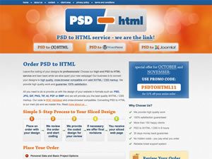 PSD to HTML thumnail